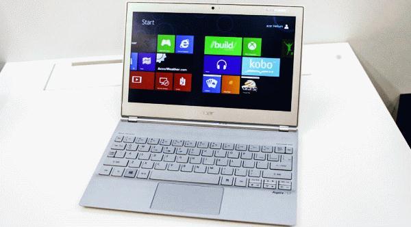 Acer Aspire S7: новый сверхтонкий ноутбук